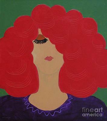 Red Head Poster by Anita Lewis