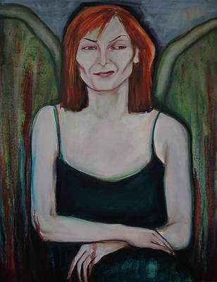 Poster featuring the painting Red-headed Angel by Irena Mohr