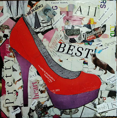 Red High Heel Poster by James Haddock