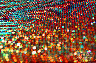Red Hot Bokeh Bling Poster