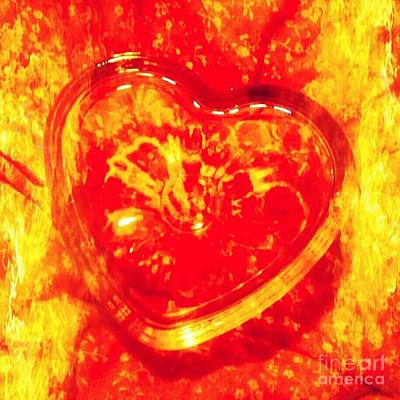 Red Hot Heart Poster by Stacy Frett