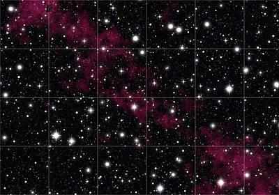 Red Hydrogen Nebula In Deep Space Poster by Daniel Hagerman