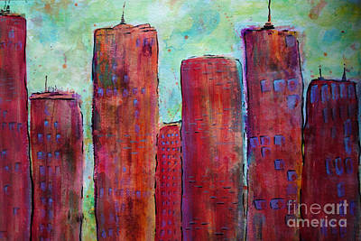 Red In The City Poster by Jacqueline Athmann