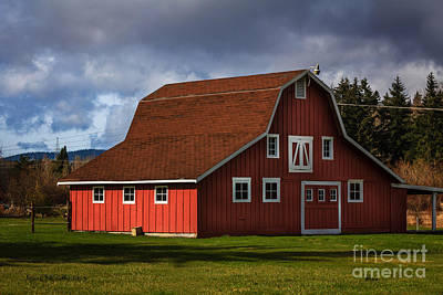 Poster featuring the photograph Red Kirsop Barn by Jean OKeeffe Macro Abundance Art