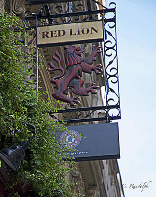 Red Lion Pub Poster by Cheri Randolph