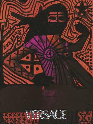 Red Medusa Pop Graffiti Model Poster