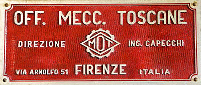 Red Metal Sign Of Tuscany Poster by David Letts