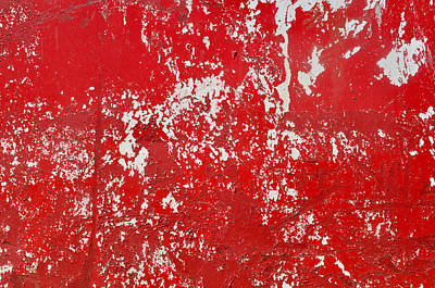 Red Metal Textured Background Poster