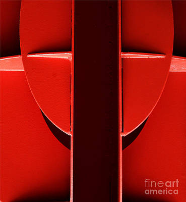 Red Poster by Newel Hunter