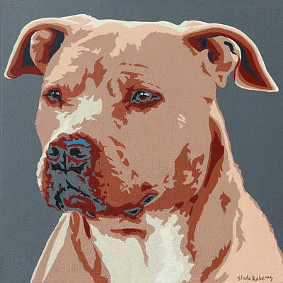 Red Nose Pit Bull Poster by Slade Roberts