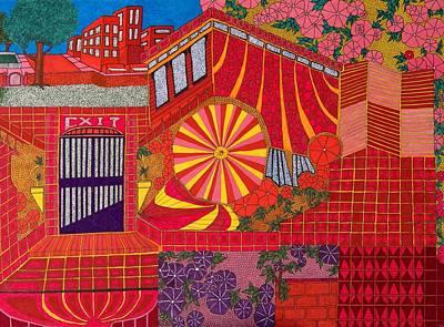 Red Pinwheel Poster
