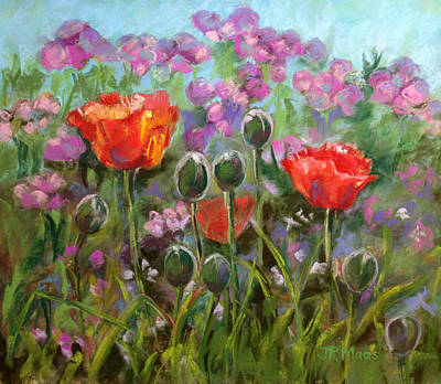 Red Poppies Poster by Julie Maas