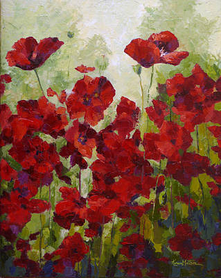 Red Poppy Field Poster by Karen Mattson