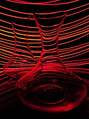 Red Rhythm Iv Poster by Davorin Mance