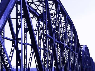 Poster featuring the photograph Red River Train Bridge #5 by Robert ONeil