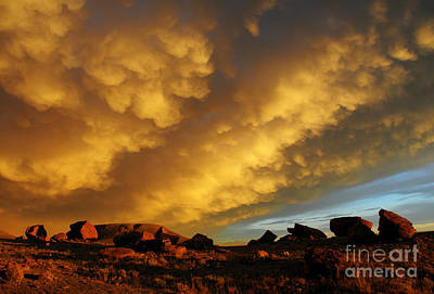 Red Rock Coulee Sunset Poster by Vivian Christopher