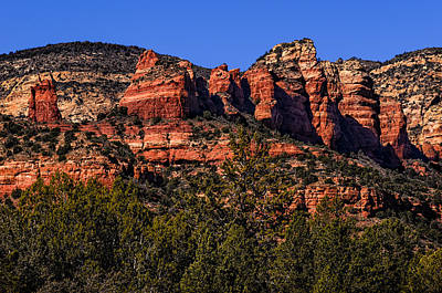 Poster featuring the photograph Red Rock Sentinels by Mark Myhaver