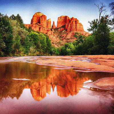 Red Rock State Park - Cathedral Rock Poster