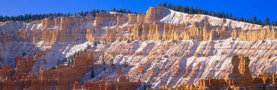 Red Rocks & Snow, Bryce Canyon National Poster