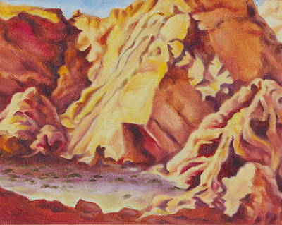 Poster featuring the painting Red Rocks by Michele Myers