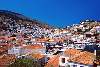 Red Roofs Poster by Aiolos Greek Collections