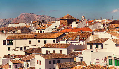 Red Roofs Of Ronda. Andalusia. Spain Poster by Jenny Rainbow