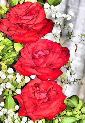 Red Rose Bouquet Poster by Dan Sproul