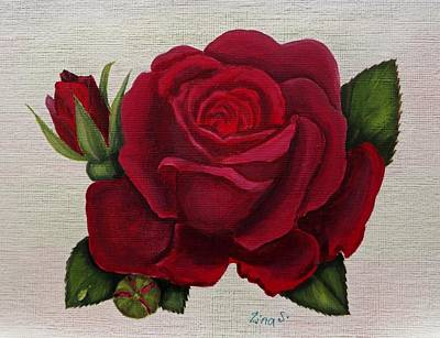Red Rose Poster by Zina Stromberg