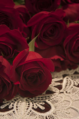 Red Roses Bouquet Poster by Ivete Basso Photography