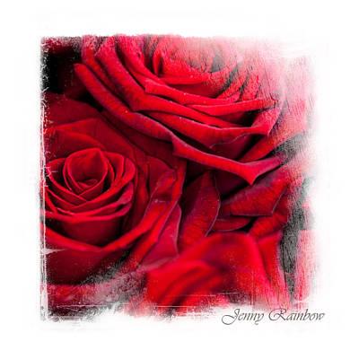 Red Roses. Elegant Knickknacks Poster by Jenny Rainbow