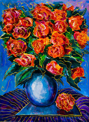 Red Roses Poster by Maxim Komissarchik