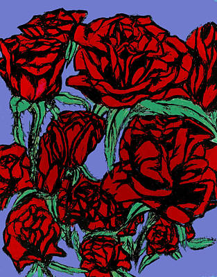 Red Roses On Parade Poster by Tiffany Selig