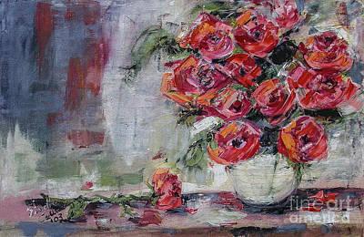Red Roses Still Life Poster