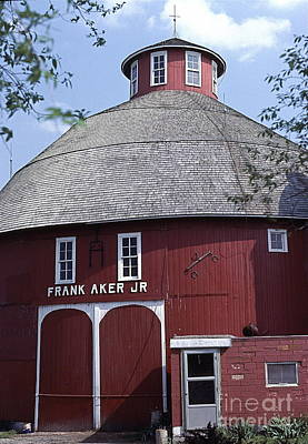 Red Round Barn With Cupola Poster by Robert Birkenes