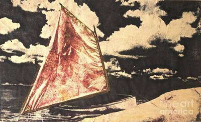 Red Sail Poster by Deborah Talbot - Kostisin