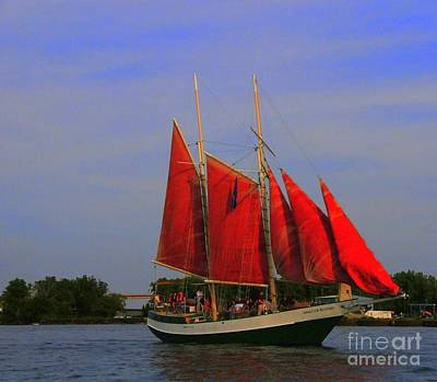 Red Sails Poster by Kathleen Struckle