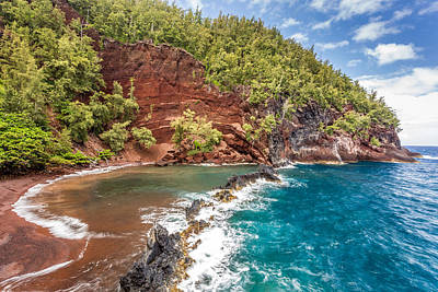 Red Sand Beach Maui Poster by Pierre Leclerc Photography