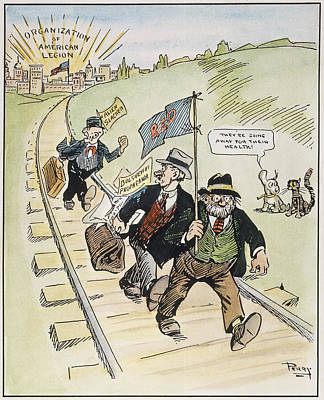 Red Scare Cartoon, 1919 Poster by Granger