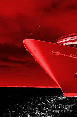Red Sky At Morning ... Sailors Take Warning Poster