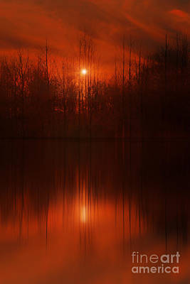 Red Sky Sunset Poster by Tom York Images