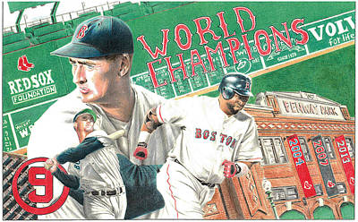 Red Sox World Champions Poster by David Vieyra