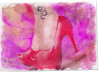 Red Stillettos Poster by Diana Riukas