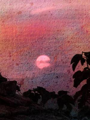Red Sunset Poster by Dorothy Berry-Lound