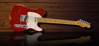 Red Tele Poster by WB Johnston