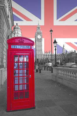 Red Telephone Big Ben Poster