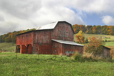 Poster featuring the photograph Red Tobacco Drying Barn by Robert Camp