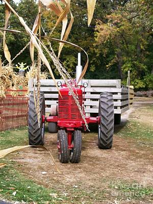 Red Tractor Ready To Roll Poster by Laurie Eve Loftin