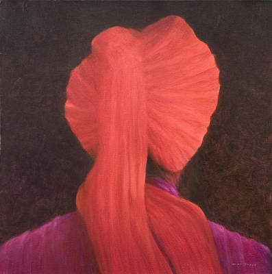 Red Turban In Shadow Poster by Lincoln Seligman