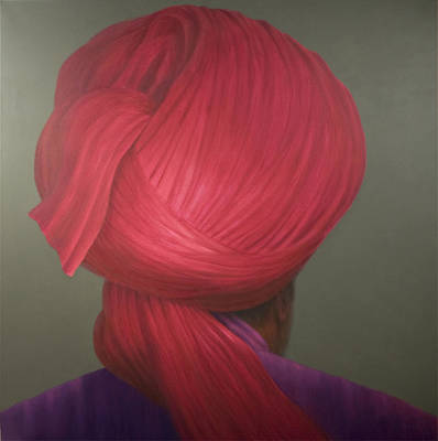 Red Turban, Purple Coat Poster by Lincoln Seligman