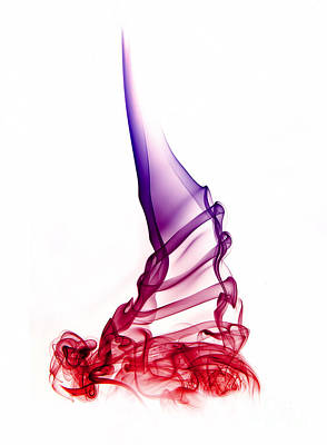 Red-violet Abstract Poster